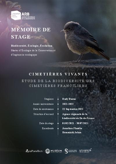 Cimetières vivants, étude de la biodiversité des cimetières franciliens